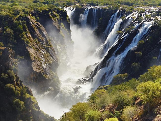 Spectacular Ruacana Falls, Angola.