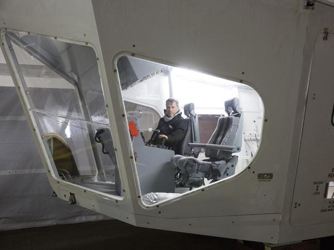 The flight deck of the helium-filled Airlander.