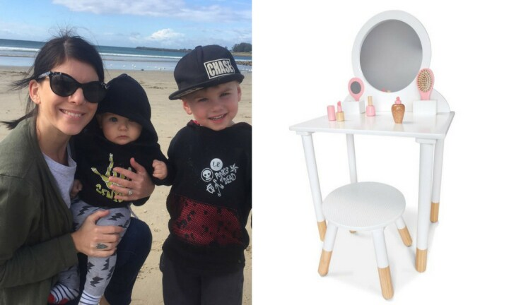 Mum 'hacks' Kmart vanity set and turns it into a barber shop for her son
