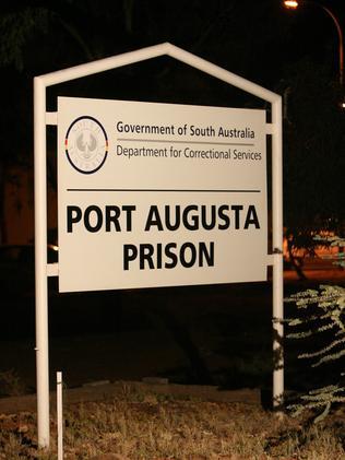 Sign at the Port Augusta Prison. Picture: Turner Matt