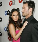 "<p>Actress Megan Fox and her fiancee actor Brian Austin Green attend the 13th annual GQ magazine ""Men of the Year"" party in Los Angeles November 18, 2008.</p>"