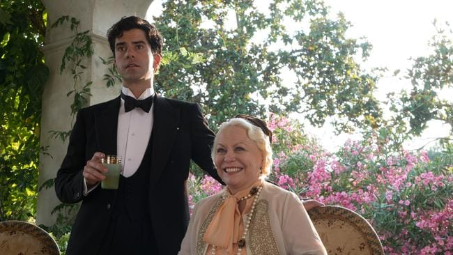 Brice (Hamish Linklater) and Grace (Jacki Weaver) in a scene from Magic In The Moonlight. Picture: Entertainment One Films