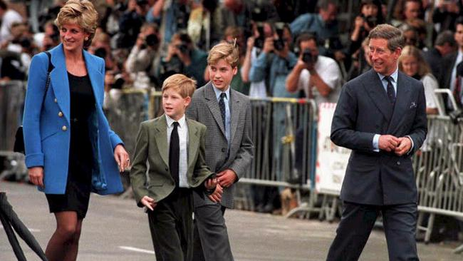 Prince Charles and Diana Princess of Wales with William and Harry in 1995.