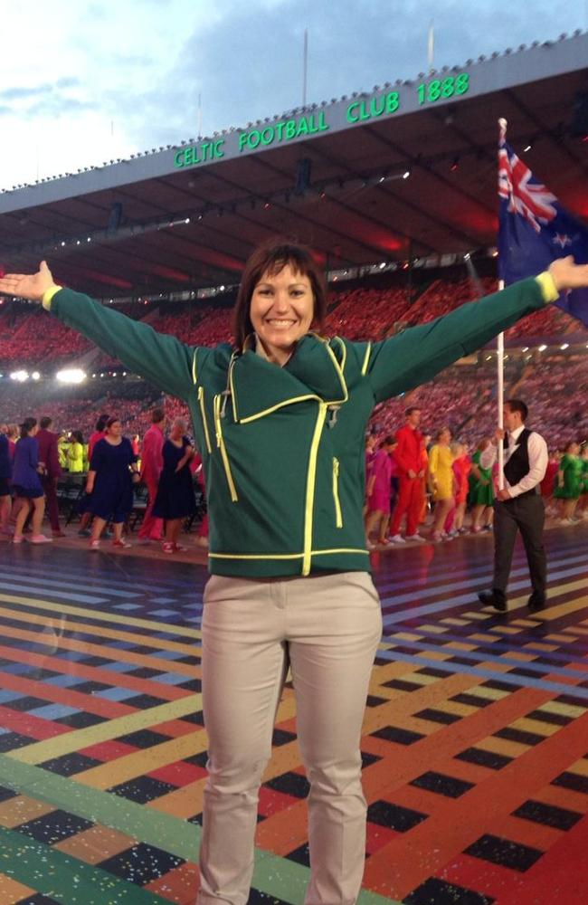 Meares soaks up the atmosphere at the opening ceremony.