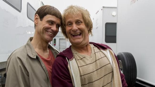Jim Carrey and Jeff Daniels reprised their roles 20 years after the original.