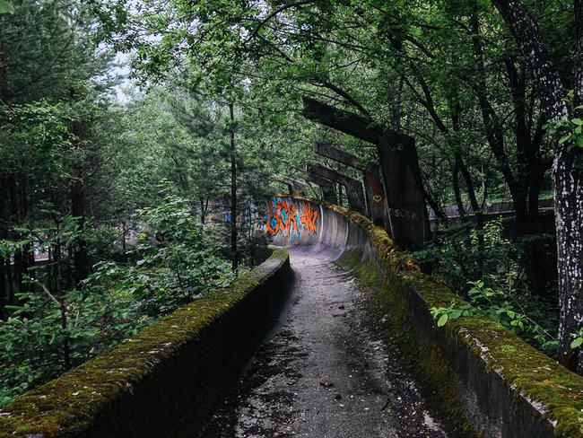 The bobsled track was used as a base for military personnel. Picture: Nate Robert/yomadic.com