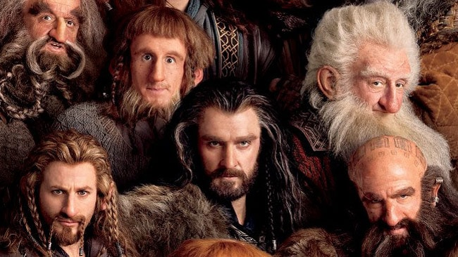 The new poster for The Hobbit: An Unexpected Journey is packed with dwarves. Picture: Warner Bros