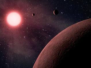 "This artist rendering provided by NASA/JPL-Caltech shows some of the 219 new planet candidates, 10 of which are near-Earth size and in the habitable zone of their star identified by NASA's Kepler space telescope. NASA says its planet-hunting telescope has found 10 new planets outside our solar system that are likely the right size and temperature to potentially have life on them. As the Kepler telescope finished its main mission, NASA announced Monday that it has seen a total of 49 planets in the ""Goldilocks Zone"" for possible life. And they only looked in a tiny part of the galaxy. (NASA/JPL-Caltech via AP)"