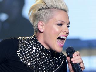 Pink performs to a full house during the first of her 18 concerts in Melbourne at Rod Laver Arena