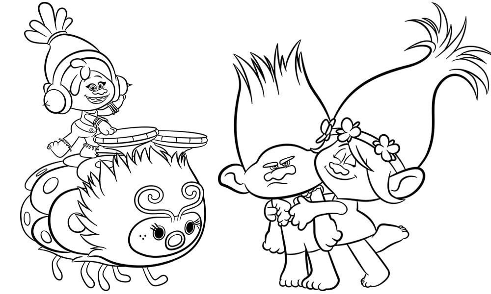 Trolls Movie Activity Sheets Free Printables Colouring