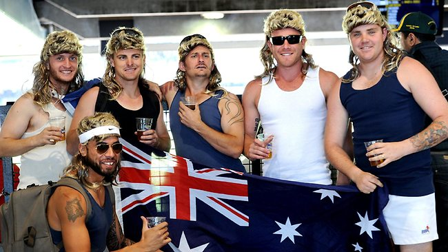Boxing Day Test...colour. The boys from Darwin. Picture: Mike Keating
