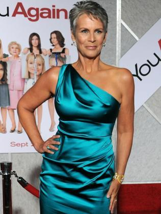 Jamie Lee Curtis is grey and proud in Los Angeles in 2010. Picture: AFP