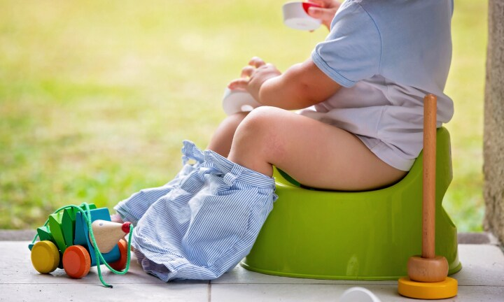 Is it OK for toddlers to use a potty in public?