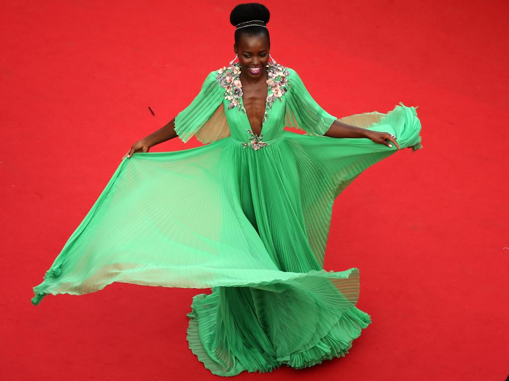 Lupita Nyong'o attends the opening ceremony and premiere of 'La Tete Haute' ('Standing Tall') during the 2015 Cannes Film Festival. Picture: AFP