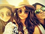 COACHELLA 2014: 'Keeping Up With The Kardashians' star Kylie Jenner with american singer Selena Gomez. Picture: Instagram