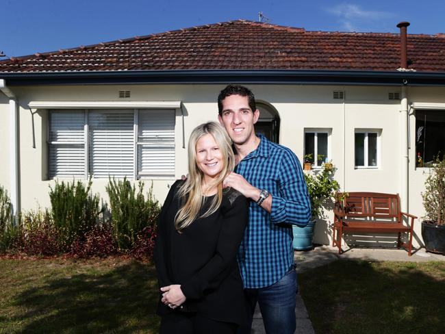 Natasha and Robbie Sekel at their home in Maroubra.