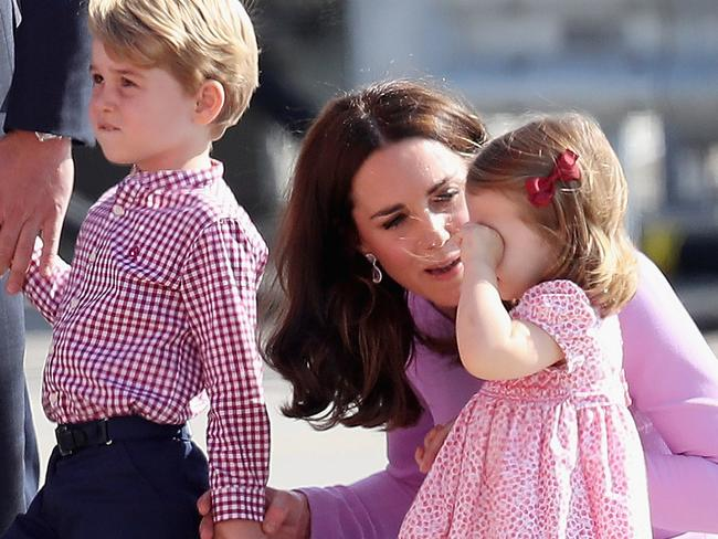 """Even Prince George and Princess Charlotte have a noted """"uplift"""" on sectors of the economy when they are spotted wearing certain clothes. Picture: Chris Jackson/Getty Images"""