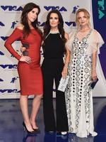 Jennifer Bartels, Kyle Richards and Mena Suvari attend the 2017 MTV Video Music Awards at The Forum on August 27, 2017 in Inglewood, California. Picture: Getty