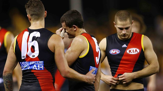 Brent Stanton after the Essendon v Hawthorn match at Etihad Stadium. Friday July 26, 2013. Picture: Klein Michael