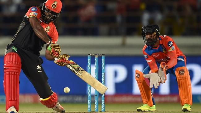Gayle struck an explosive 77 off 38 balls to guide Bangalore to victory.
