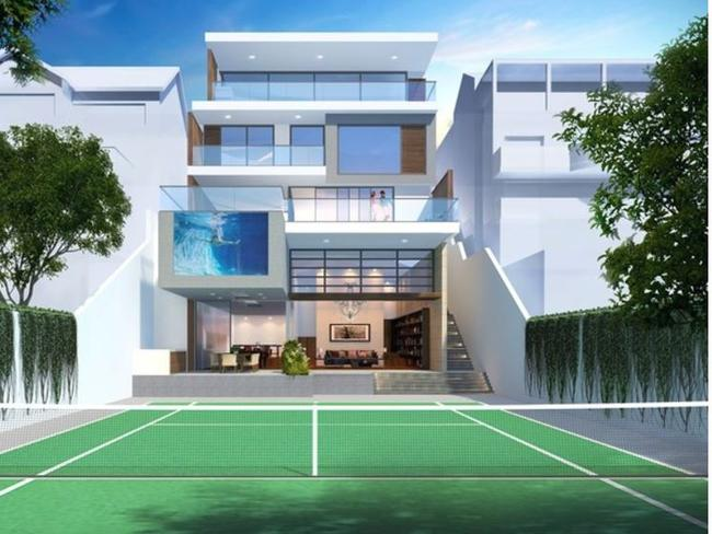 An artist's impression of the four-level mansion. Picture: Raine & Horne