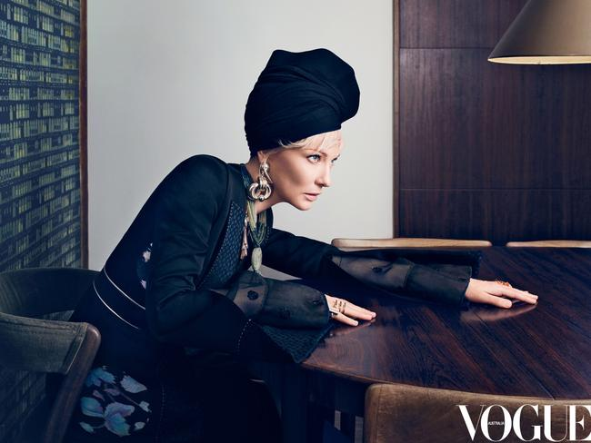 Cate Blanchett poses for Vogue.