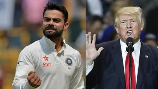 The similarities between Virat Kohli and Donald Trump are uncanny.