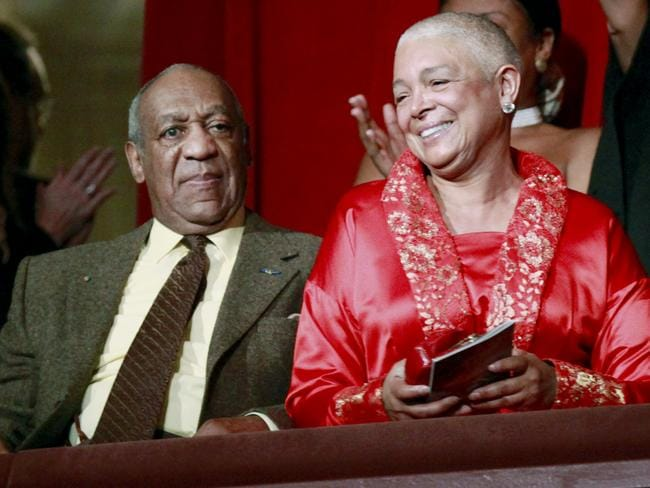 Comedian Bill Cosby, left, and his wife Camille appear at the John F. Kennedy Center for Performing Arts before Bill Cosby received the Mark Twain Prize for American Humour in Washington in 2009. (AP Photo/Jacquelyn Martin, File)