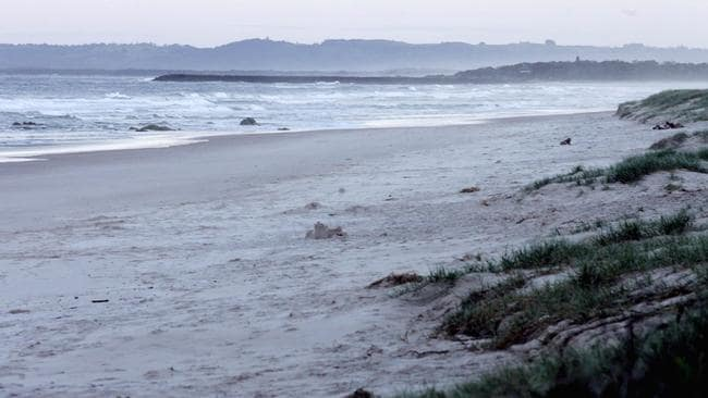 New Brighton Beach, where Michael Williams came ashore after his epic swim. Picture: News Corp