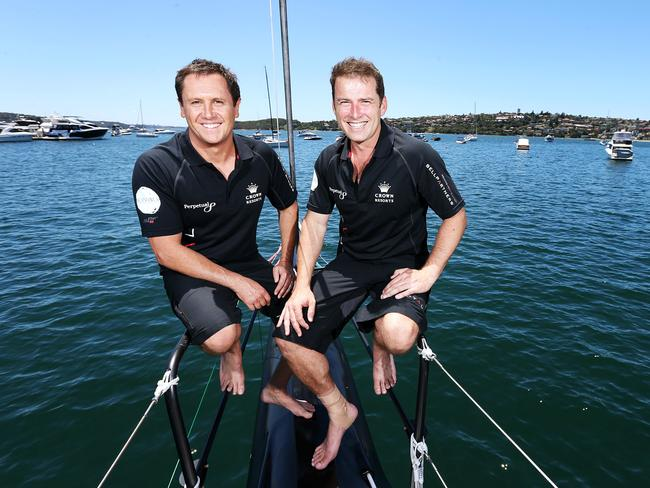 Larry Emdur and Karl Stefanovic helped crew Perpetual Loyal in the Sydney to Hobart yacht race.