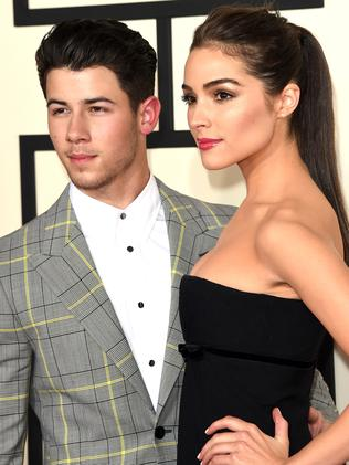 Nick Jonas and Olivia Culpo. Picture: Getty Images