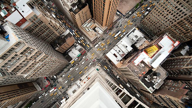 This image would be enough to make most of us feel a litttle dizzy. Picture: Navid Baraty