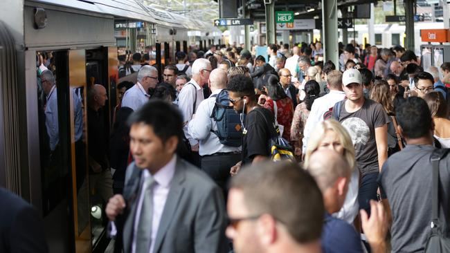 The report shows thousands of services were delayed or cancelled in January. Picture: Christian Gilles