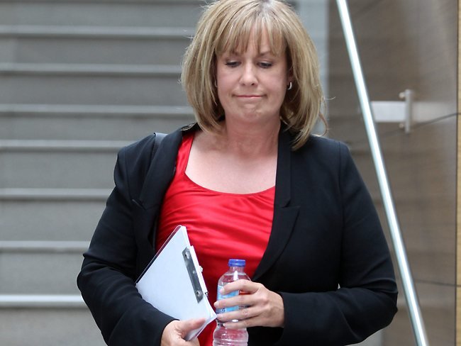 A Current Affair's Tracy Grimshaw walks out of the 2Day FM building. Picture: John Grainger
