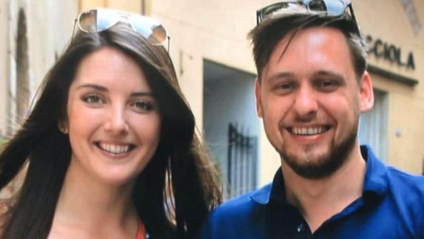 Brisbane woman Lucy Steadman and her boyfriend Fabian were caught up in a bomb explosion on a London train. Picture: Facebook