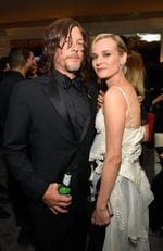 Norman Reedus and Diane Kruger attend the 2018 InStyle and Warner Bros. 75th Annual Golden Globe Awards Post-Party at The Beverly Hilton Hotel on January 7, 2018 in Beverly Hills, California. Picture: Getty