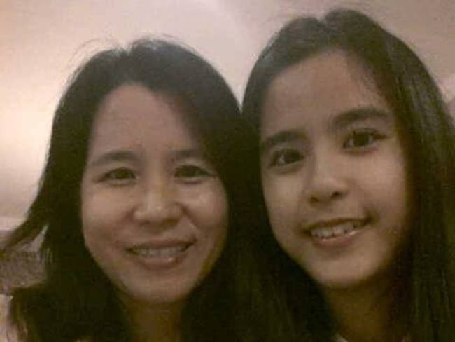 Chiara Natasha at right (who was not on the flight) pictured with her mother Indahju Liangsih. Chiara Natasha lost her parents and two brothers on the flight. Photo: Facebook