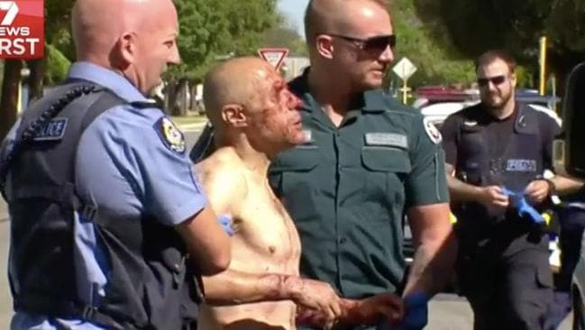 Santamaria was mauled while trying to get his dog back into his yard. Picture: Channel Seven