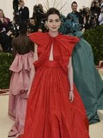 Anne Hathaway attends the Heavenly Bodies: Fashion and The Catholic Imagination Costume Institute Gala at The Metropolitan Museum of Art on May 7, 2018 in New York City. Picture: AP