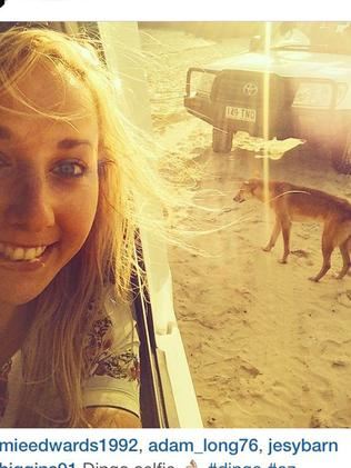 Instagram pictures of people on Fraser Island.