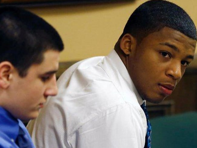 Convicted teens ... Trent Mays, 17, and Ma'lik Richmond, 16.