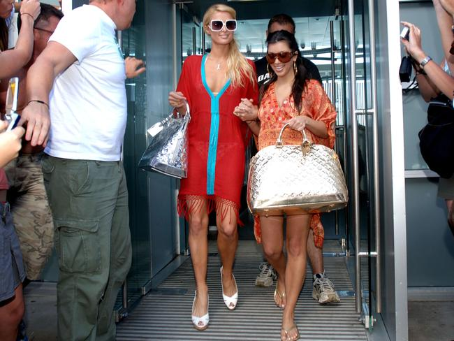 Paris and then-unknown Kim visit Bondi back in 2006. Photo: AAP Image/Tracey Nearmy