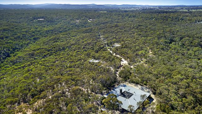 Boyd Baker House on about 12ha of natural bushland.