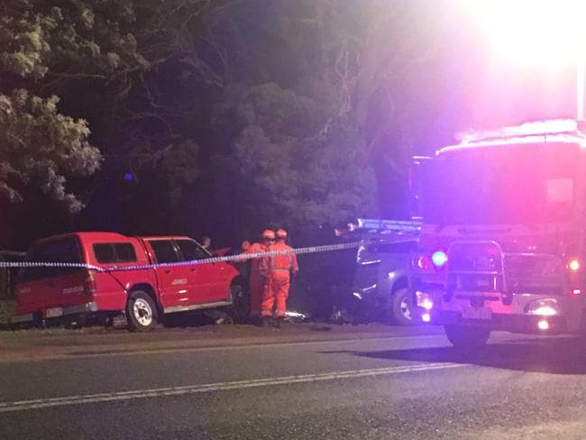 A man has died after a crash on the Goulburn Valley Highway in Nurmurkah. Picture: Lana Murphy