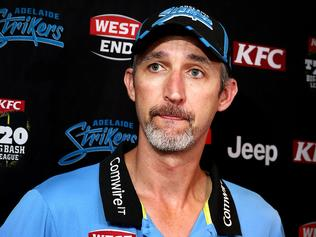 Strikers coach Jason Gillespie speaking of the disappointment of being knocked out of the Big Bash