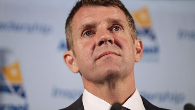 NSW Premier Mike Baird, see her giving a speech in 2015 at The Star's ball room, is under pressure to extend the lockouts to the venue. Picture: Bradley Hunter