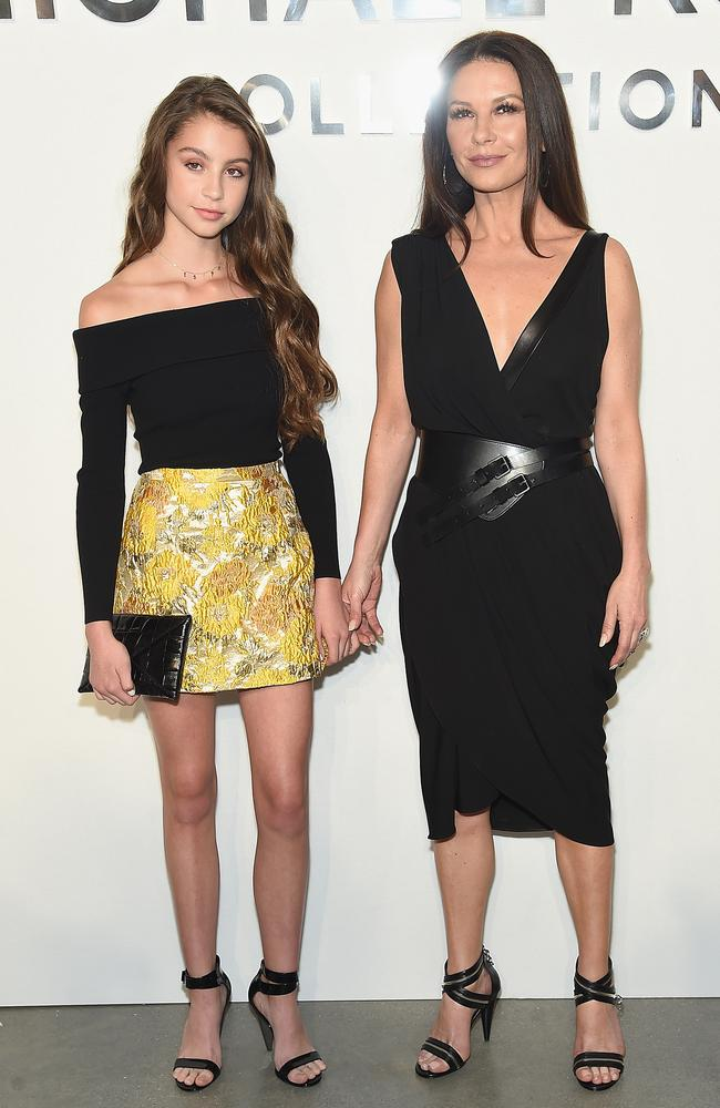 Catherine Zeta-Jones brought her mini-me daughter as her date. Picture: Getty Images for Michael Kors