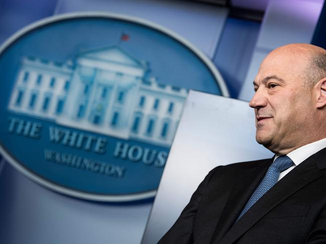 Mr Cohn and the President disagreed over trade. Picture: Brendan Smialowski/AFP