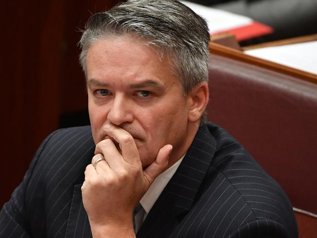 Finance Minister Mathias Cormann has likened Bill Shorten's economic policies to those of communist East Germany's. Picture: AAP