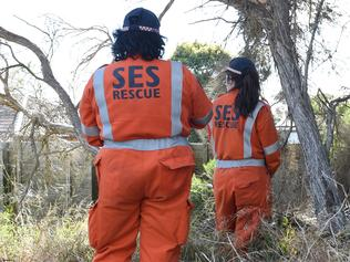 SES and police search